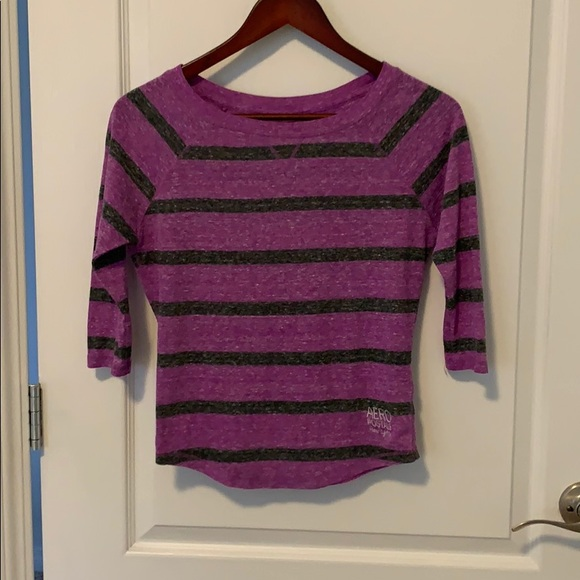 3/4 Length Striped Aeropostale Top